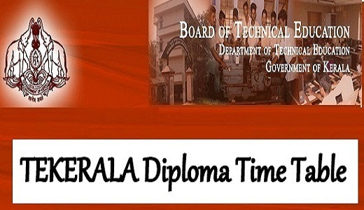 TEKERALA Time Table 2019