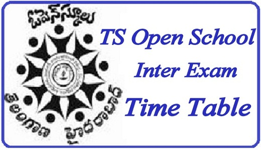 TS Open Inter Exam Time Table 2019