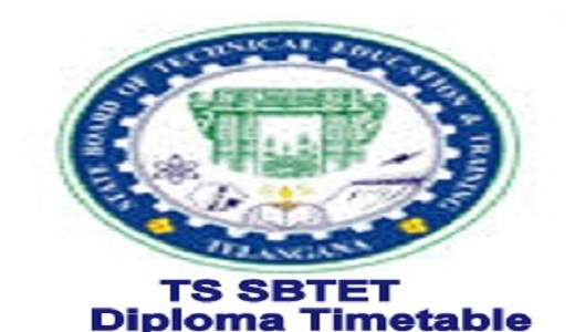 TS SBTET Diploma Time Table 2021