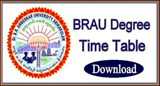 BRAU Degree Time Table 2021