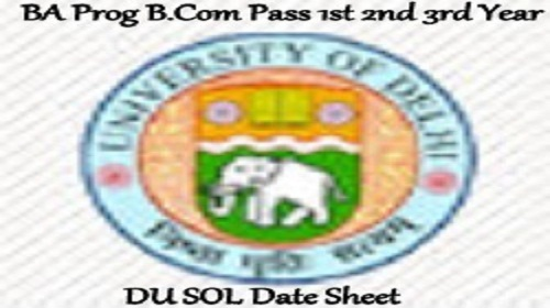 DU SOL Date Sheet 2020