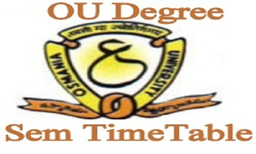 OU Degree Time Table 2021