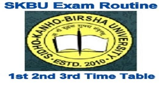 SKBU Exam Routine 2021