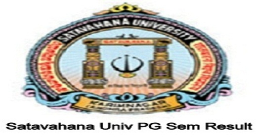Satavahana University PG Results 2019