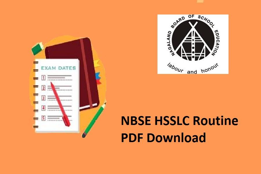 NBSE HSSLC Routine 2022