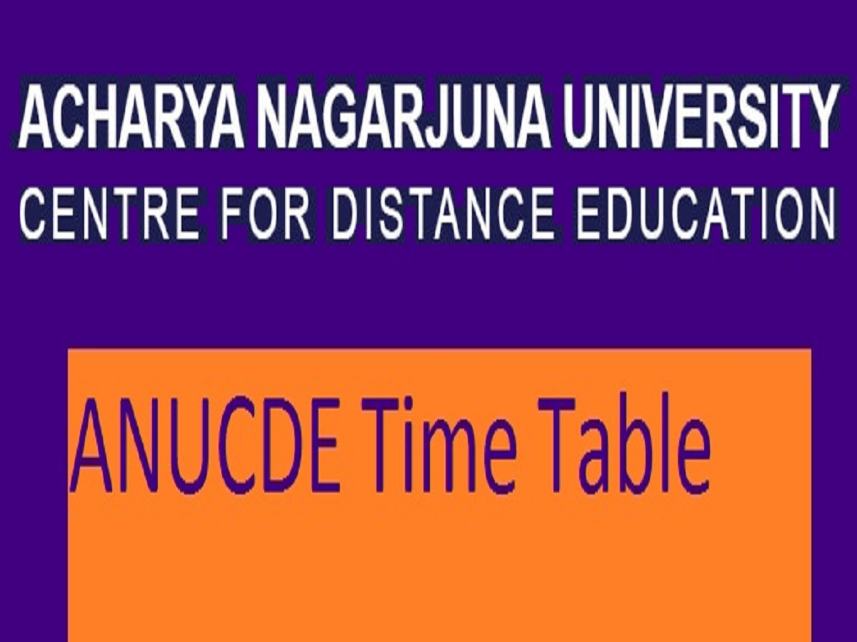 ANUCDE Exam Time Table 2020