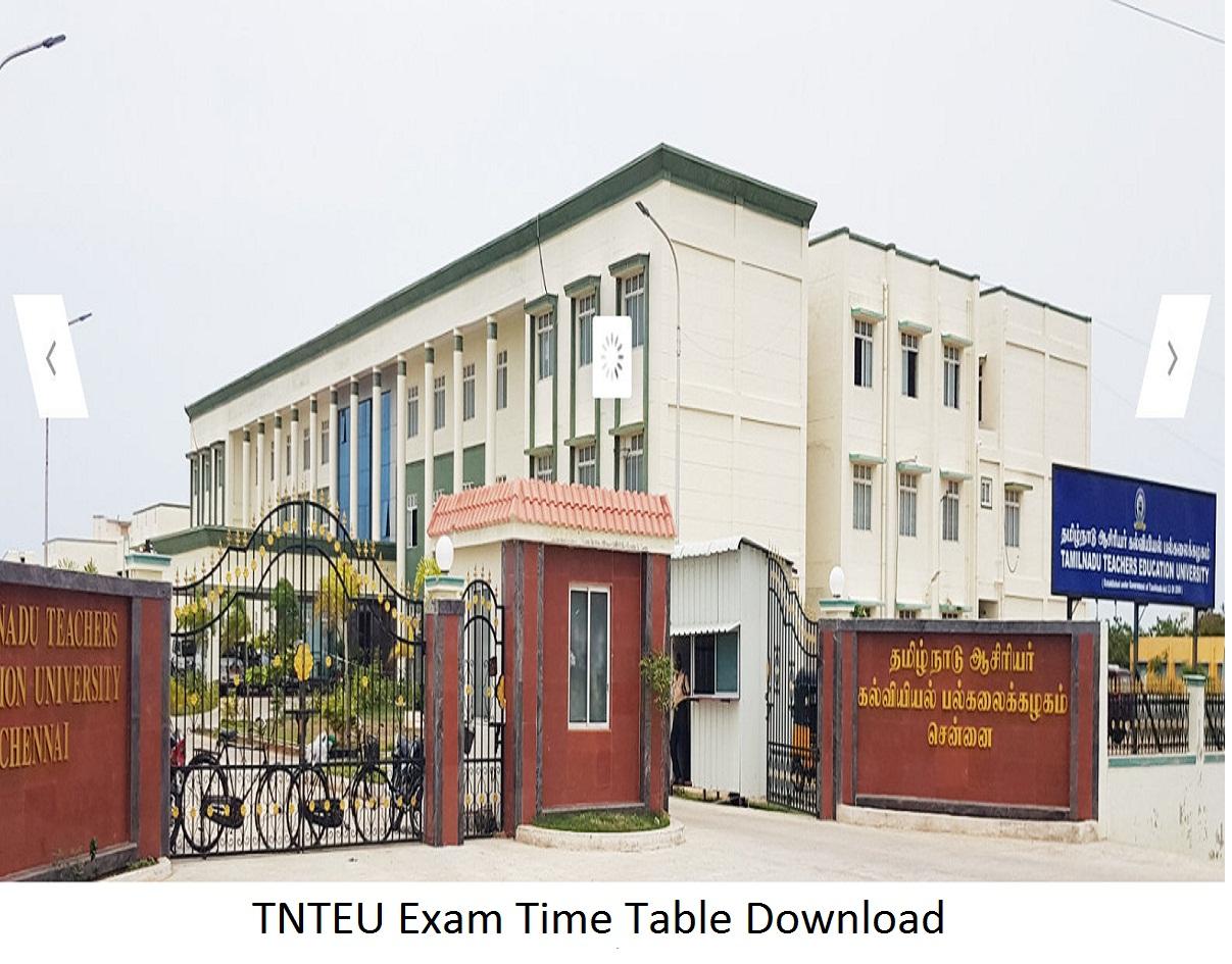 TNTEU Exam Time Table 2020