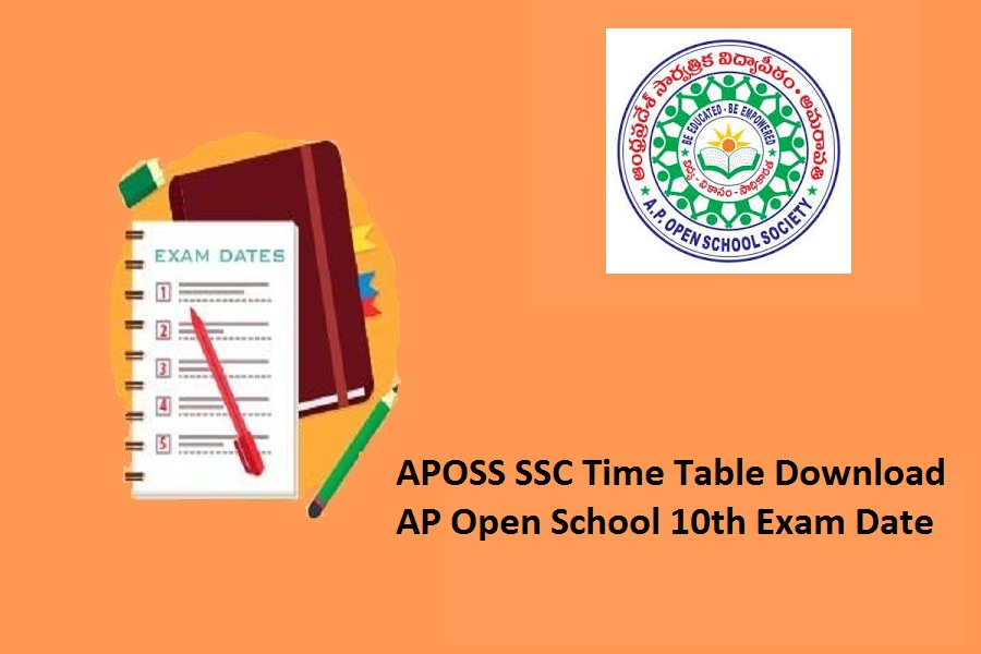 APOSS SSC Exam Time Table 2021