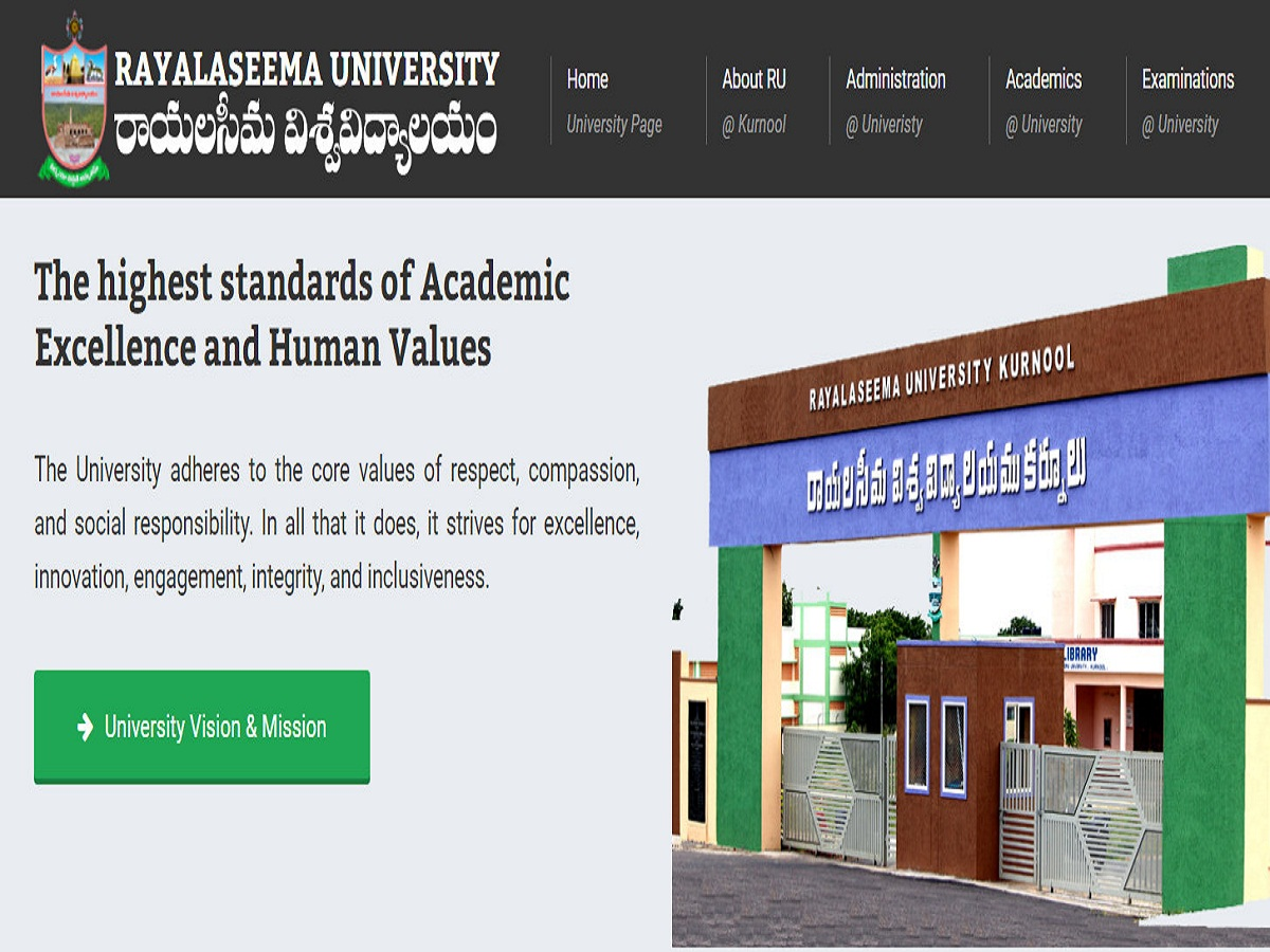 Rayalaseema University Degree Time Table 2021