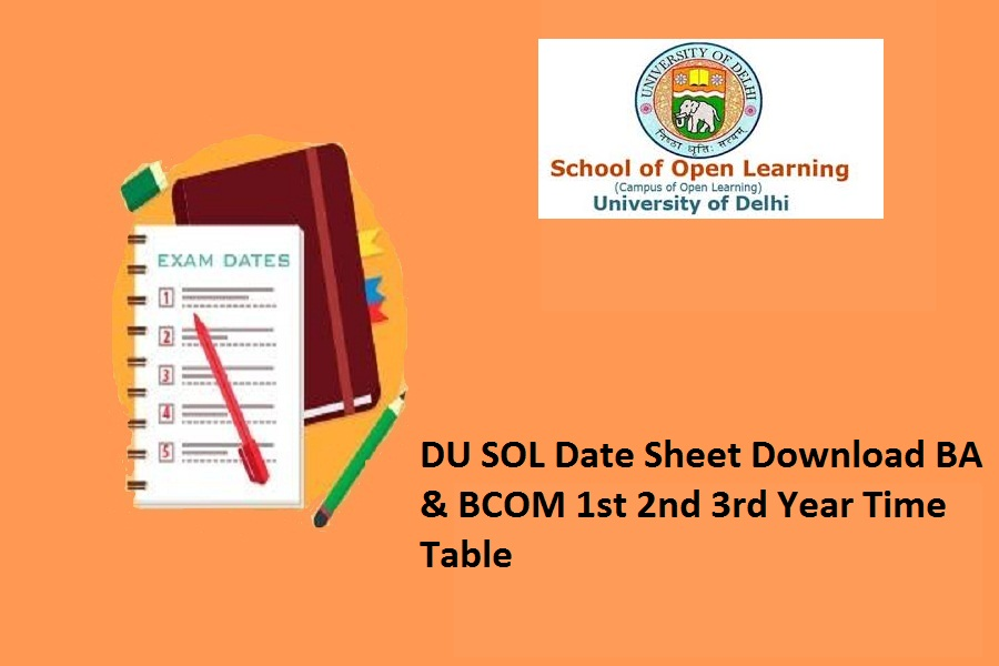 DU SOL Date Sheet 2021