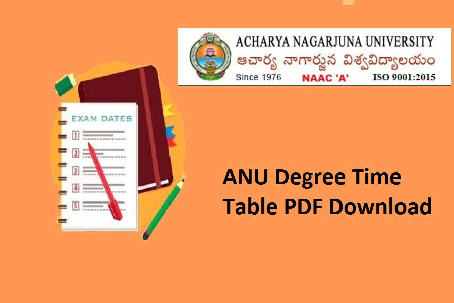 ANU Degree Time Table 2020