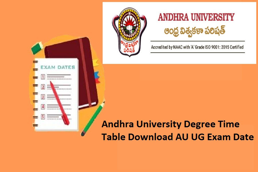 Andhra University Degree Time Table 2021