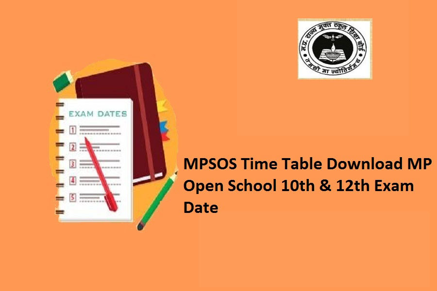 MPSOS Time table 2021