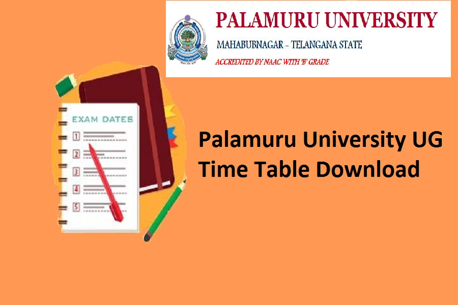 Palamuru University Degree Time Table 2020
