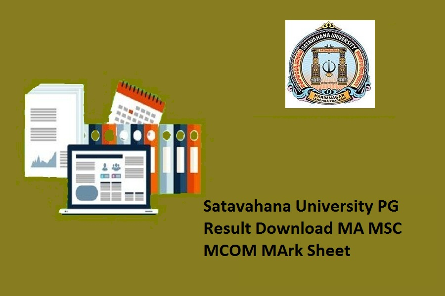 Satavahana University PG Results 2021