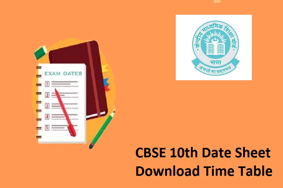 CBSE 10th Date Sheet 2022