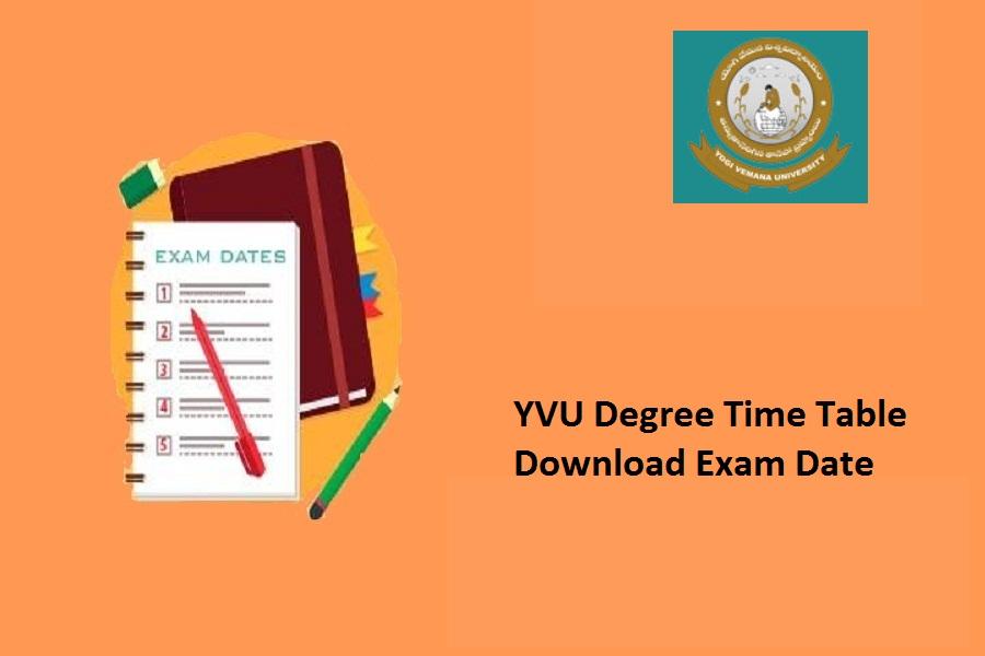 YVU Degree Time Table 2021
