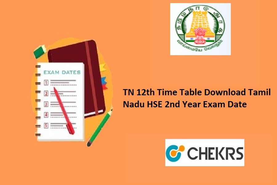 TN 12th Time Table 2022
