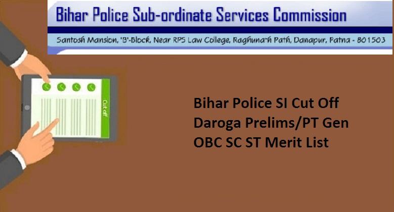 Bihar Police SI Cut Off 2021