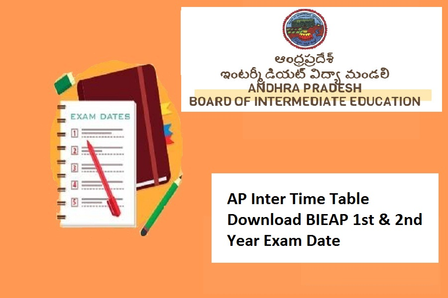 AP Inter Time Table 2022