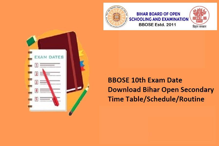 bbose 10th exam date 2021
