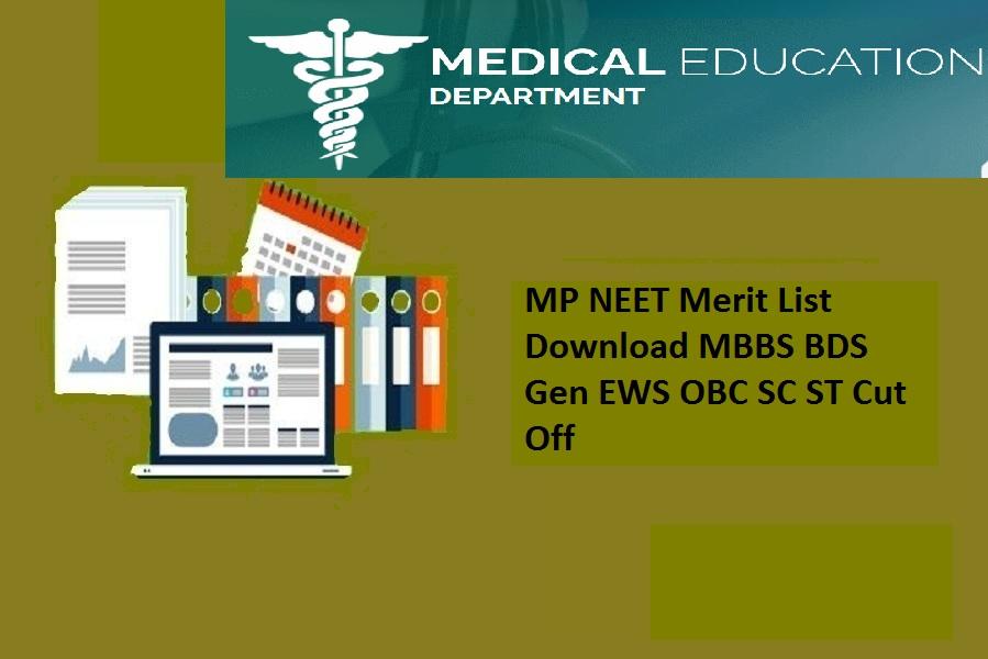 MP NEET Merit List 2021