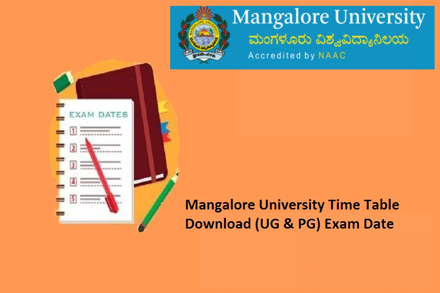 Mangalore University Exam Time Table 2021