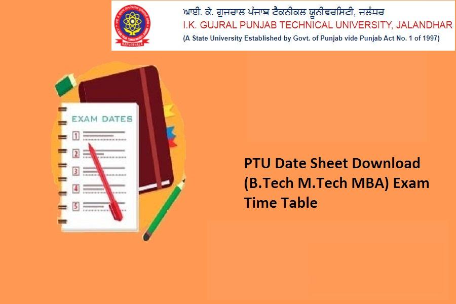 PTU Date Sheet 2021
