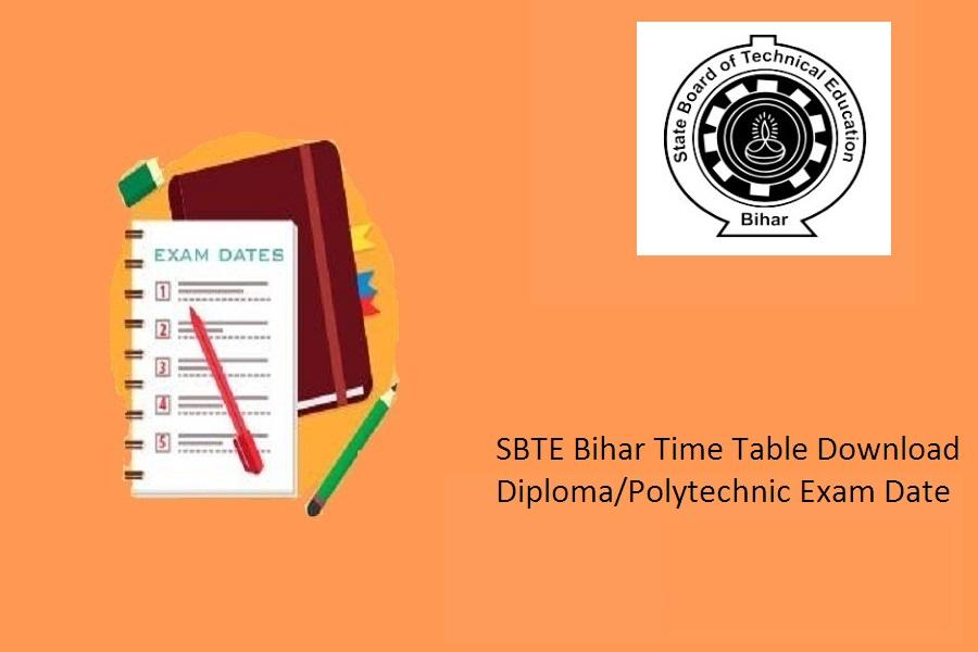 SBTE Bihar Time Table 2021